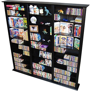 Venture Horizon VHZ Entertainment Large Triple Multimedia Storage Rack; Black