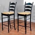 TMS 30'' Ladder Bar Stool (Set of 2); Black