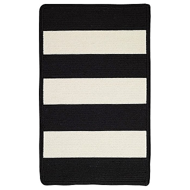 Capel Willoughby Black/White Indoor/Outdoor Area Rug; Cross Sewn 7' x 9'