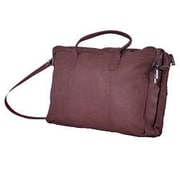 David King Double Leather Briefcase; Cafe / Dark Brown