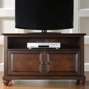 Crosley Cambridge 42'' TV Stand; Vintage Mahogany