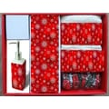 Carnation Home Fashions Holiday Snow Fabric 16 Piece Shower Curtain Set