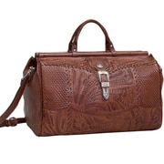 American West Retro Romance Travel 18'' Leather Duffel