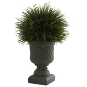 Nearly Natural Nearly Natural Potted Grass Desk Top Plant in Urn