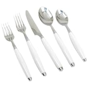 Fiesta 5 Piece Flatware Set; White