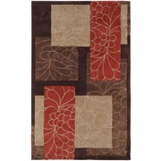Surya Cosmopolitan Brown/Red Rug; 3'6'' x 5'6''