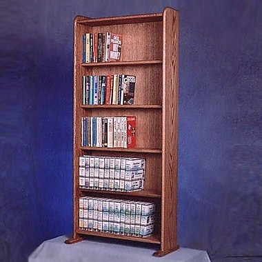 Wood Shed 500 Series 200 DVD Multimedia Storage Rack; Unfinished