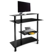 RTA Home And Office 32'' W Computer Desk with Keyboard Tray; Black