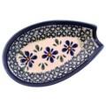 Polish Pottery Spoon Rest - Pattern DU60