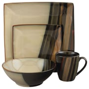 Sango Avanti 16 Piece Dinnerware Set; Black