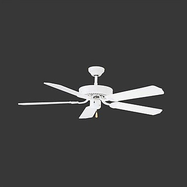 Thomas Lighting 52'' Paddle 5 Blade Ceiling Fan; White with White Blades