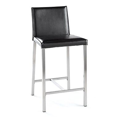 TFG Dylan 24'' Bar Stool with Cushion; Black