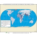 Universal Map World History Wall Maps - Independence Dates for Countries of the World