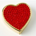 Budd Leather Covered Heart Shape Pill Box
