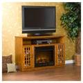 Wildon Home   Lipan 48'' TV Stand with Electric Fireplace; Glazed Pine