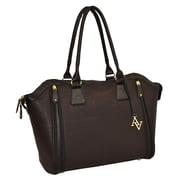 Adrienne Vittadini Saffiano 18'' Laptop Tote Bag; Brown