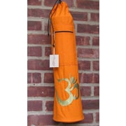 OMSutra OM Shiva Drawstring Yoga Mat Bag; Orange