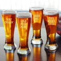 Cathys Concepts Cold Beer Here Pilsners (Set of 4)