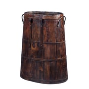 Antique Revival Saddle Bucket with Iron Handles