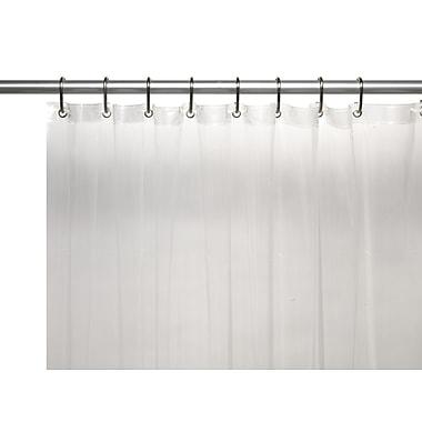 Carnation Home Fashions Clean Home EVA Shower Curtain Liner; Super Clear
