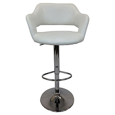 Creative Images International Adjustable Height Bar Stool; White