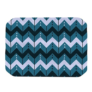 KESS InHouse Chevron Dance Placemat; Blue