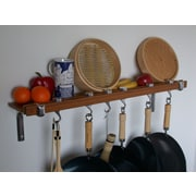 Taylor & Ng Track Rack Wall Pot Rack; Burnished Bamboo