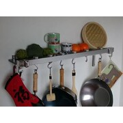 Taylor & Ng Track Rack Wall Pot Rack; Chrome