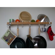 Taylor & Ng Track Rack Wall Pot Rack; Natural Wood