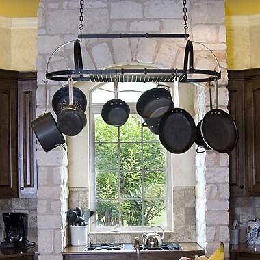 Advantage Components Premier Expandable Hanging Oval Pot Rack; Black Satin Powder Coated