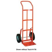 Wesco Industrial TNT56 Touch-N-Tilt Ergonomic Industrial Steel Hand Truck; Solid Rubber