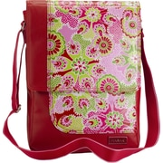 Hadaki PU / Coated On The Run Laptop Shoulder Bag; Ruby