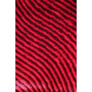 Rug Factory Plus Shaggy 3D Red Area Rug; 7'6'' x 10'2''