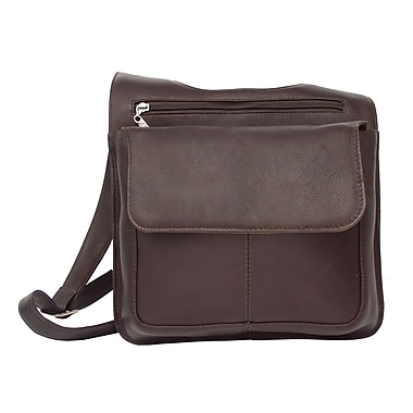Piel Fashion Avenue Slim Line Mail Bag; Chocolate