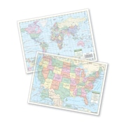 Universal Map U.S. & World Transparency Pack