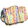 J World Thomas Squares Messenger Bag; Neon