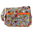 Hadaki Padded Multitasker Floral Swirl Messenger Bag