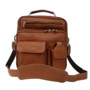 Piel Adventurer Messenger Bag; Saddle