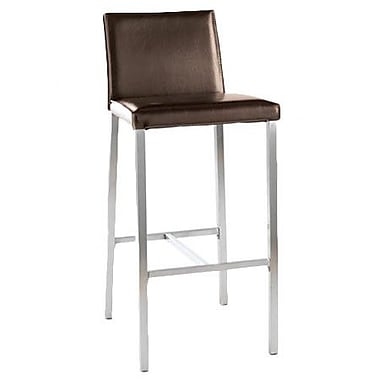 TFG Dylan 30'' Bar Stool with Cushion; Dark Brown
