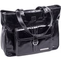 Clark & Mayfield Stafford Vintage Laptop Tote Bag; Black