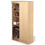 Nexera Wall Street 2 Door Storage Cabinet; Natural Maple