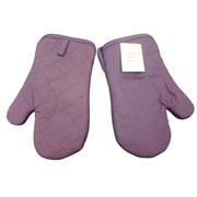Textiles Plus Inc. Quilted Oven Mitt in Plum (Set of 2)