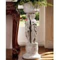 Design Toscano Chatsworth Manor Neoclassical Urn Pedestal Plant Stand