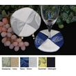 Pacific Table Linens Bouquet Wine Glass Coaster (Set of 2); Seaspray / Natural