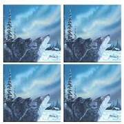 McGowan Tuftop Van Zyle Wolf Duet Coasters (Set of 4)