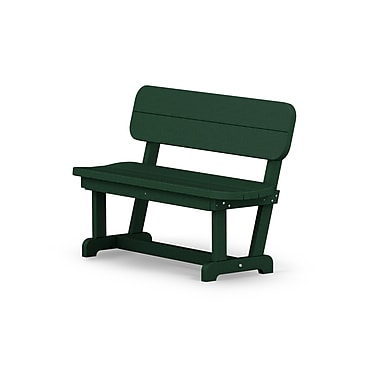POLYWOOD Park 48'' Wood Garden Bench; Green