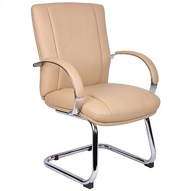 Aaria Elektra Guest Chair; Chrome / Tan
