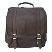 Piel Vertical Backpack; Chocolate