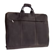 Piel Traveler Garment Bag; Chocolate