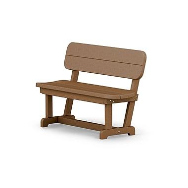 POLYWOOD Park 48'' Wood Garden Bench; Teak